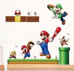 Muurstickers Super Mario sports
