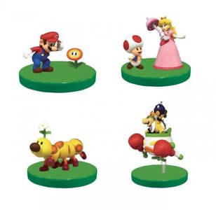 4 x Super Mario Bros Solid Mario Collection Vol.1 mini figure with Stand Set TAKARA