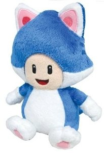 Super Mario Bros - Cat Toad 20 cm plush knuffel - Licensed by Nintendo Sanei