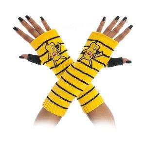 POKEMON Pikachu Striped Fingerless Gloves, One Size, Yellow/Black (KG1AETPOK)