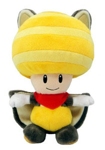 Super Mario Bros - Squirrel Toad - 21 CM - Licensed by Nintendo SANEI
