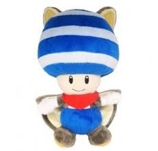 Super Mario Bros - Squirrel Toad Blauw - 21 CM - SANEI - Licensed by Nintendo