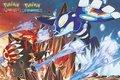 Pokémon Groudon Kyogre Poster - Licensed