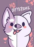 Vegan Sticker - No difference - 10,5 cm x 7,4 cm_