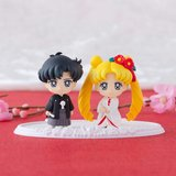 Sailor Moon Petit Chara Mini Figure 2 Set Happy Wedding Japanese Wedding Version 5 cm_