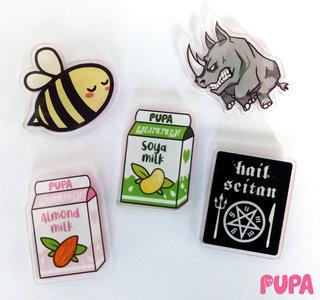 Pupa's Acrylic pins - series 1