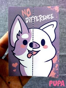 Vegan Sticker - No difference - 10,5 cm x 7,4 cm