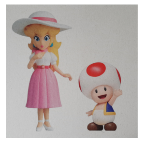 Ansichtkaart Twila - No. 3  - Prinses Peach & Toad