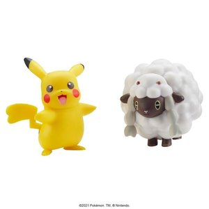Pokémon Battle Figure 5-8 cm - Pikachu and Wooloo