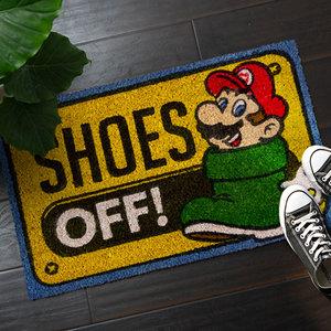 Super Mario doormat - Shoes off