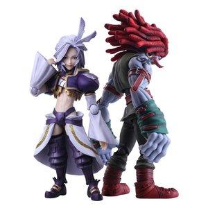 *** BESCHADIGDE DOOS *** Final Fantasy IX Bring Arts Action Figures Kuja & Amarant Coral 16 - 18 cm
